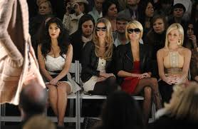 Front row, celebrities and fashion shows and politics